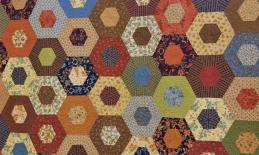 quilt with pattern
