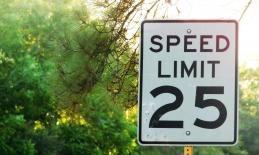 a speed limit sign