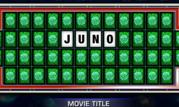 """Spin & Solve board with the Movie Title, """"Juno""""."""