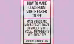 Graphic: How to make classroom videos easier to see. www.veroniiiica.com
