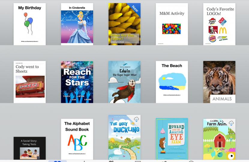 Image of books created by using iBook.