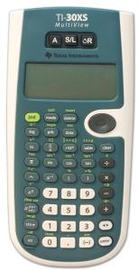 The image is of the TI - 30XS Talking Scientific Calculator