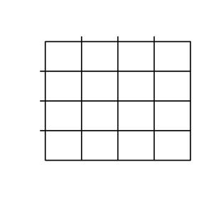 The image is of a 16-Box Tactile Punnett Square