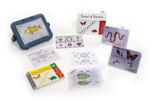 The image is of the Sense of Science kit