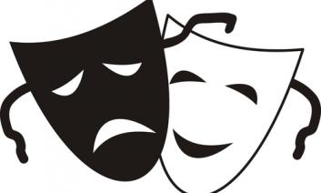 Drama mask - smiling and frowning