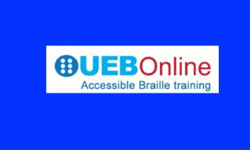 "Logo with text, ""UEB Online Accessible Braille Training"""