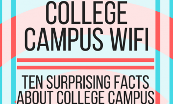 """Image with text, """"10 facts about college campus WiFi. www.veroniiiica.com"""