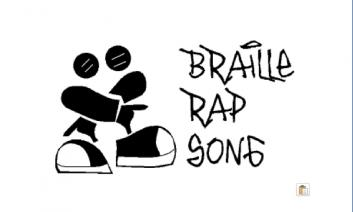 "Braille Rap logo with text ""braille rap song""."