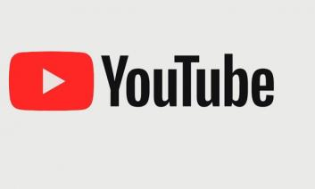 "YouTube logo: Red play button with text, ""YouTube"""