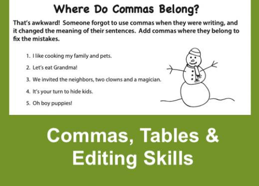 Where Do Commas Belong? Grammar Activity Paths To Technology Perkins  ELearning