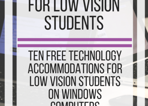Computer Lab Accommodations for Low Vision Students. www.veroniiiica.com