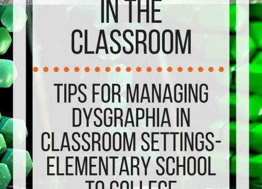 Dysgraphia Accommodations in the classroom: tips for managing. www.veroniiiica.com