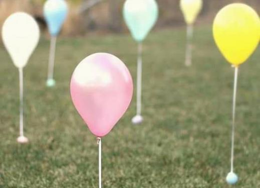 Yard Balloon Decorations