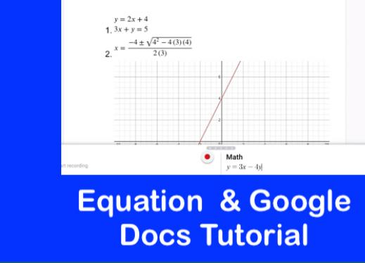 Equatio and Google Docs Tutorial | Paths to Technology