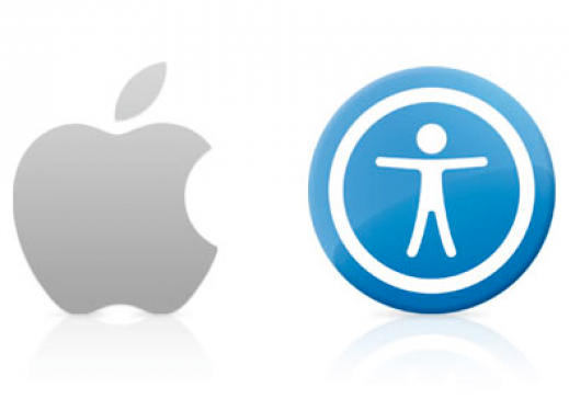 Image of Apple Logo and Accessibility symbol