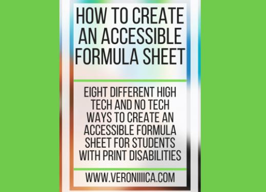How to Create an Accessible Formula Sheet. www.veroniiiica.com