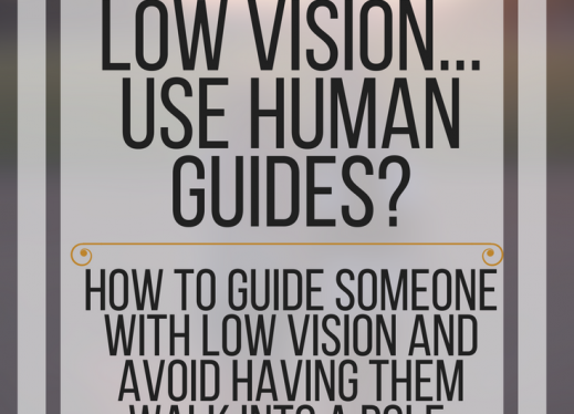 How do people with low vision use human guides? How to guide someone & avoid having them run into a pole. www.veroniiiica.org