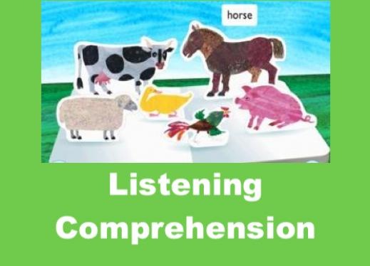 "Screenshot of Hungry Caterpillar app Farm page with text, ""Listening Comprehension"""