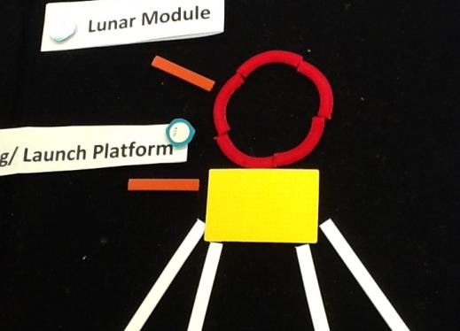Tactile Moon Lander labeled with PenFriend