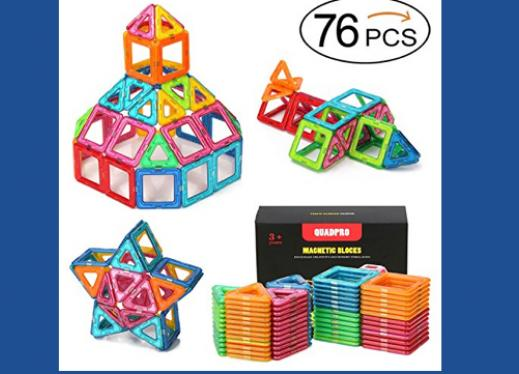 42 Pcs Qubits Stem Construction Toy Kit Review : Magnetic geometric shapes toy wow