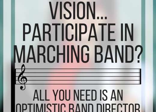 How do people with low vision participate in marching band? All you need is an optimistic band director! www.veroniiiica.org