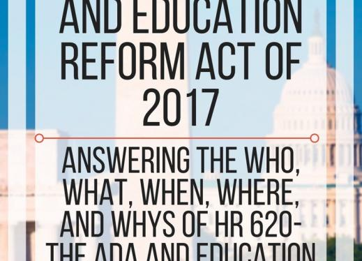 All About the HR 620 - The ADA and Educational Reform Act of 2017. www.veroniiiica.com