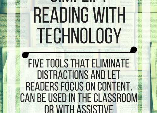Five ways to simplify reading with technology. www.veroniiiica.com