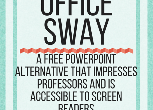 Microsoft Office Sway: A free PowerPoint alternative that impresses professors & is accessible. www.veroniiica.org