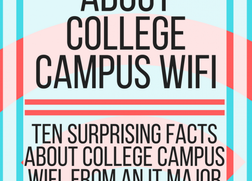 "Image with text, ""10 facts about college campus WiFi. www.veroniiiica.com"