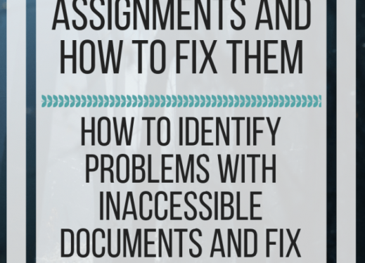 Ten spooky inaccessible assignments and how to fix them. www.veroniiiica.com