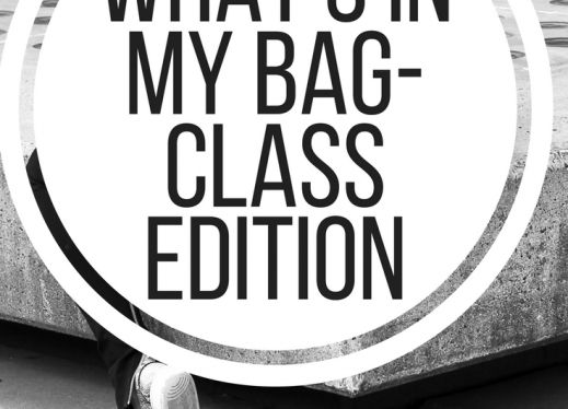 What's in my bag - classroom edition.  www.veroniiica.com