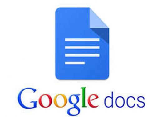Image of Google Docs text and logo