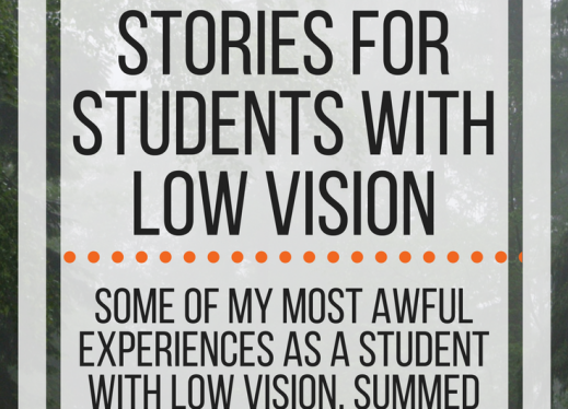 6 word horror stories for students with low vision; some of my most awful experiences as a student. www.veroniiiica.com