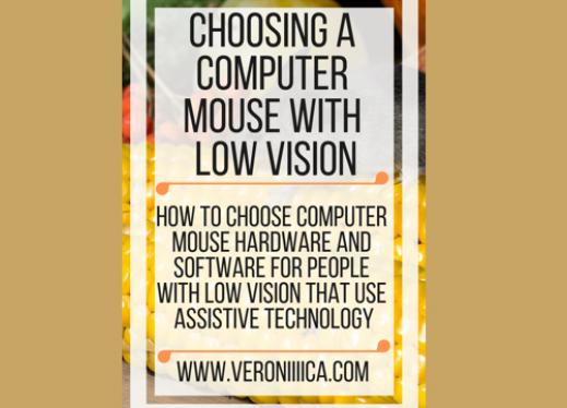 Choosing a Computer mouse with low vision. www.veroniiiica.com
