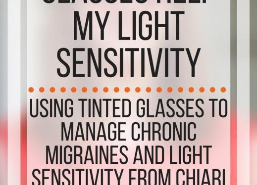 How tinted glasses help my light sensitivity. www.veroniiiica.com