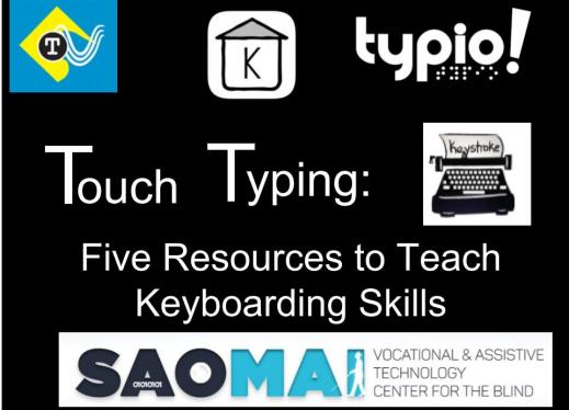 "Image with 5 typing program logos and the text, "" Touch Typing: 5 Resources to Teach Keyboarding Skills"""