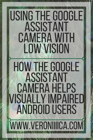 Using the Google Assistant Camera with low vision. www.veroniiiiica.org