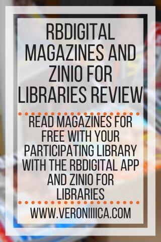 RBDigital Magazines and Zinio for Libraries Review. www.veroniiiica.com