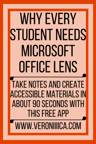 Why every student needs Microsoft Office Lens. www.veroniiiica.com