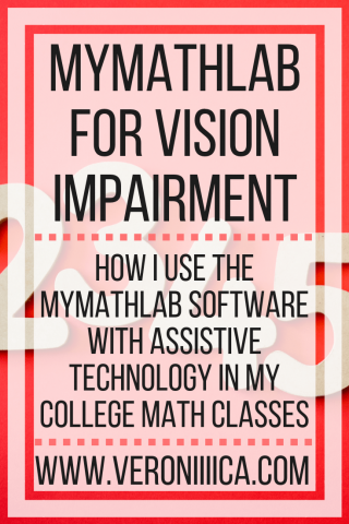 MyMathLab for Vision Impairment
