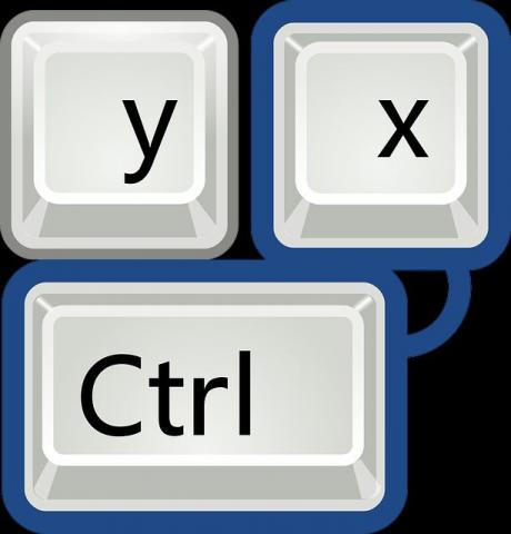 Y, X, and CTRL keys on a keyboard