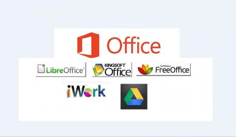 MS Office and ALternatives with  logos