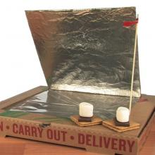 solar oven made out of pizza box