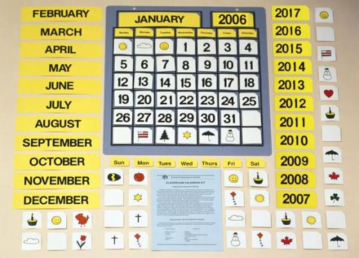 Periodic Table Introduction Using A Calendar Perkins Elearning