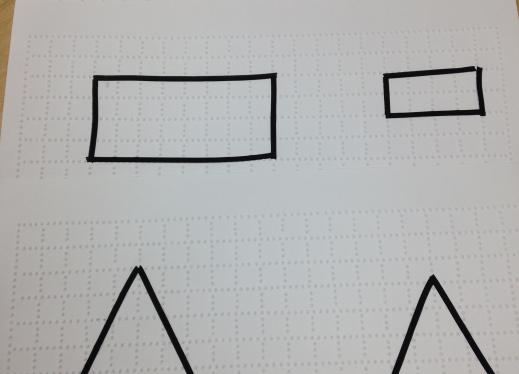 Example of squares, rectangles, and triangles