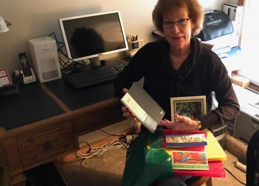 Patti McGowan with organizational tools for the new year.