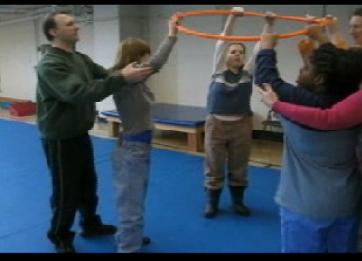Warm Up Exercise With Hula Hoop For Children And Youth Who
