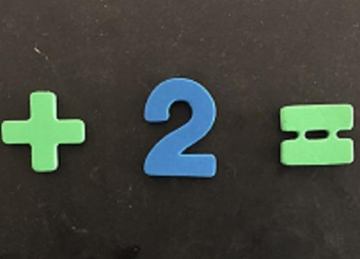 math equation formed from magnetic symbols and numerals