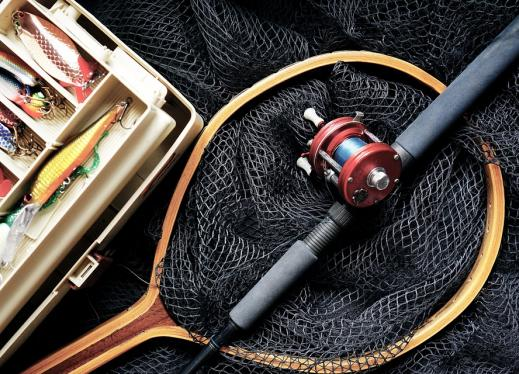 tackle box and fishing gear
