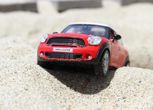 red toy mini cooper car